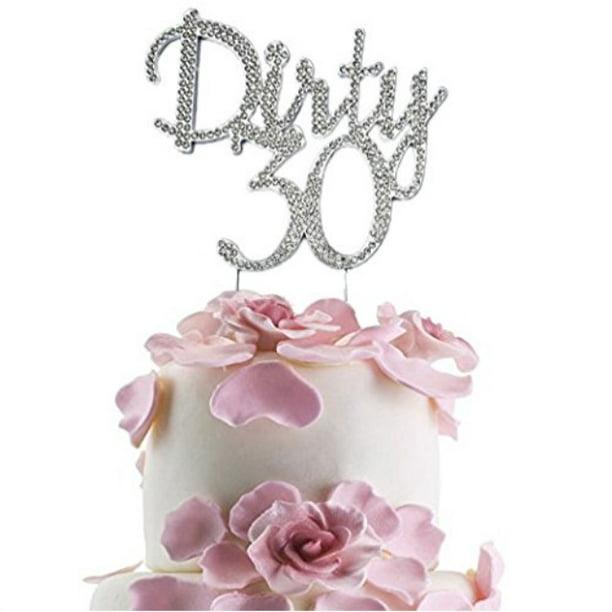 Brilliant Jennygems Dirty 30 Cake Topper Elegant Rhinestone Sparkly Bling Funny Birthday Cards Online Hetedamsfinfo