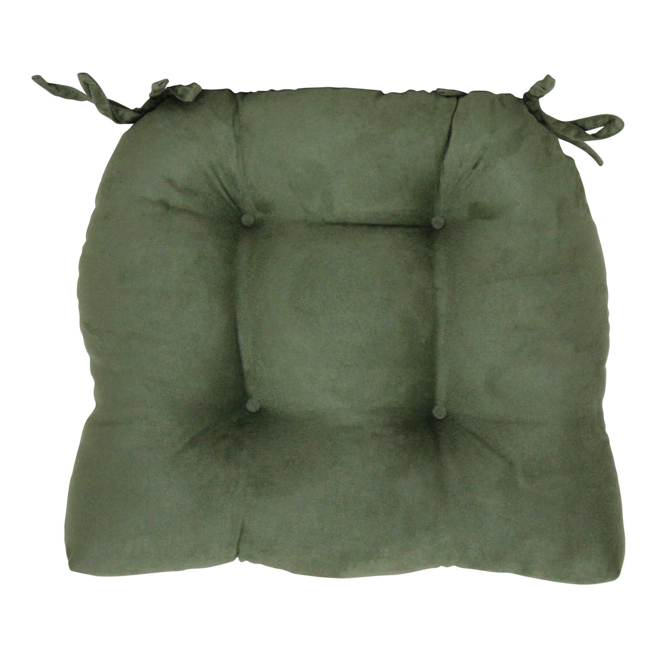 Faux Suede Chair Pad, Mulberry by Brentwood Originals