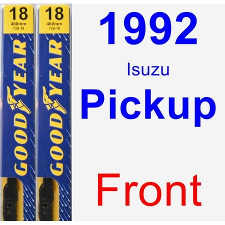 1992 Isuzu Pickup - 1992 Isuzu Pickup Wiper Blade Set/Kit (Front) (2 Blades) - Premium