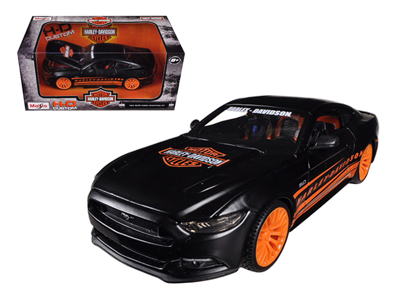 2015 Ford Mustang Harley Davidson Black 1 24 Diecast Car Model by Maisto by Maisto