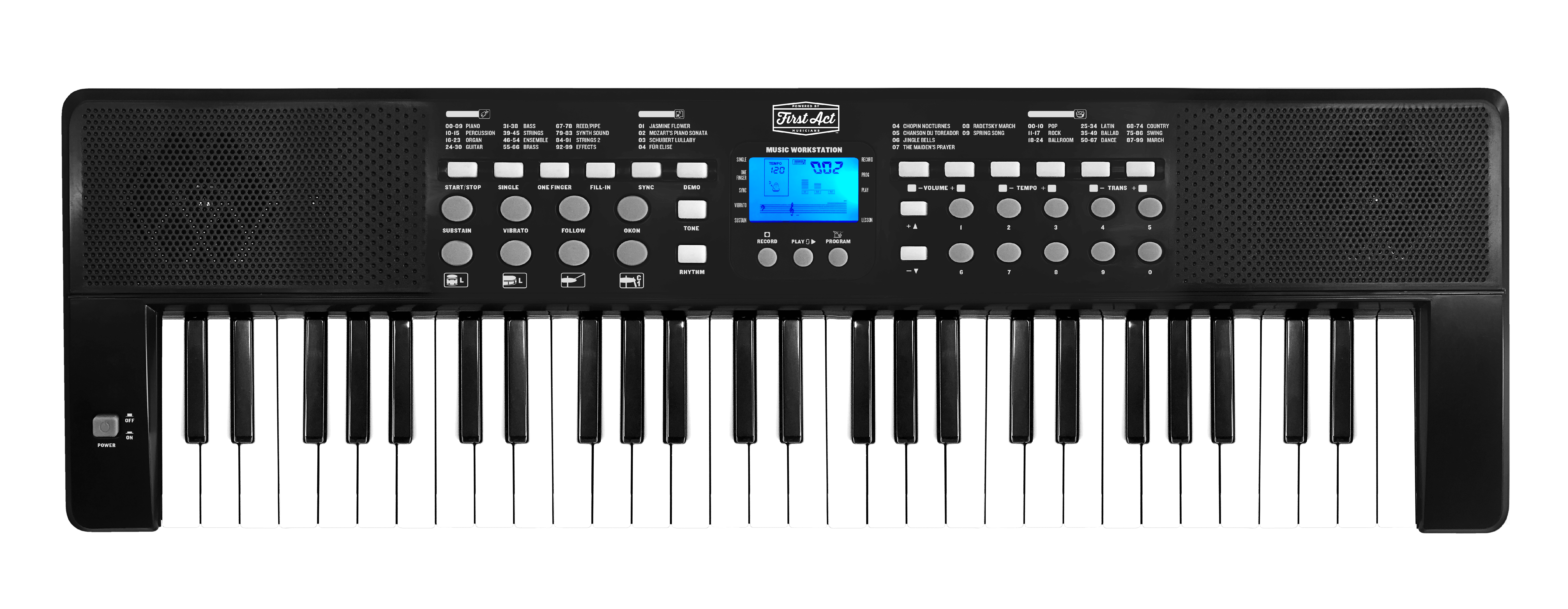 First Act 54 Key Digital Keyboard by Jazwares, LLC.