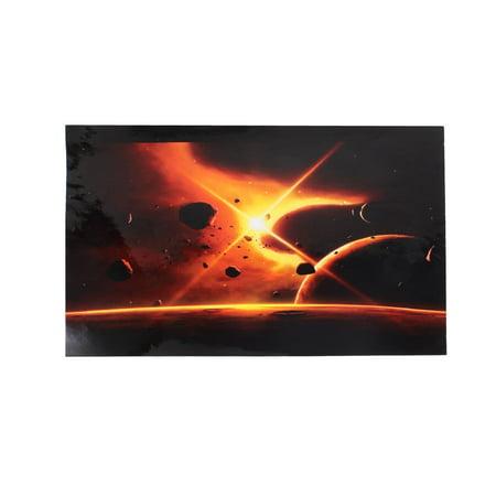 Unique Bargains Meteorites Print Sticker Protective Skin Decal Black Orange for 15.6