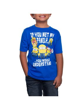 "Despicable Me ""If You Met My Family"" Graphic Crew Neck T-Shirt (Little Boys & Big Boys)"
