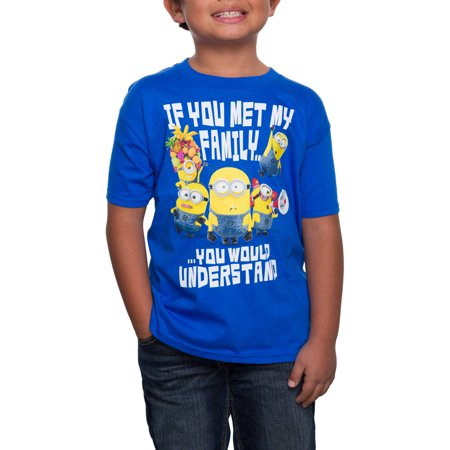 Family Boys Graphic Crew Neck Tee Shirt](Boys Suits Clearance)