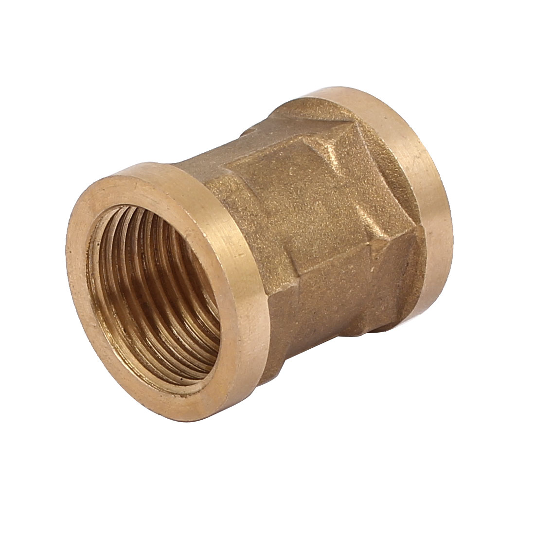 1/2BSP Female Thread Brass Straight Double Pass Connector Pipe Fitting Coupler - image 3 of 3