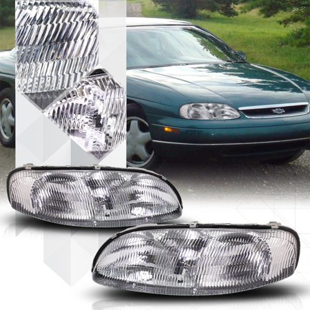Chrome Housing Crystal Lens Headlight Lamp For 95 01 Chevy Lumina Monte Carlo 96 97 98 99 00