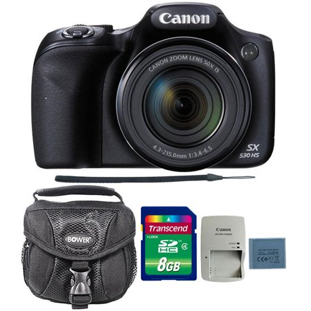 Canon PowerShot SX530 HS 16MP Digital Camera with 8GB Accessory Bundle