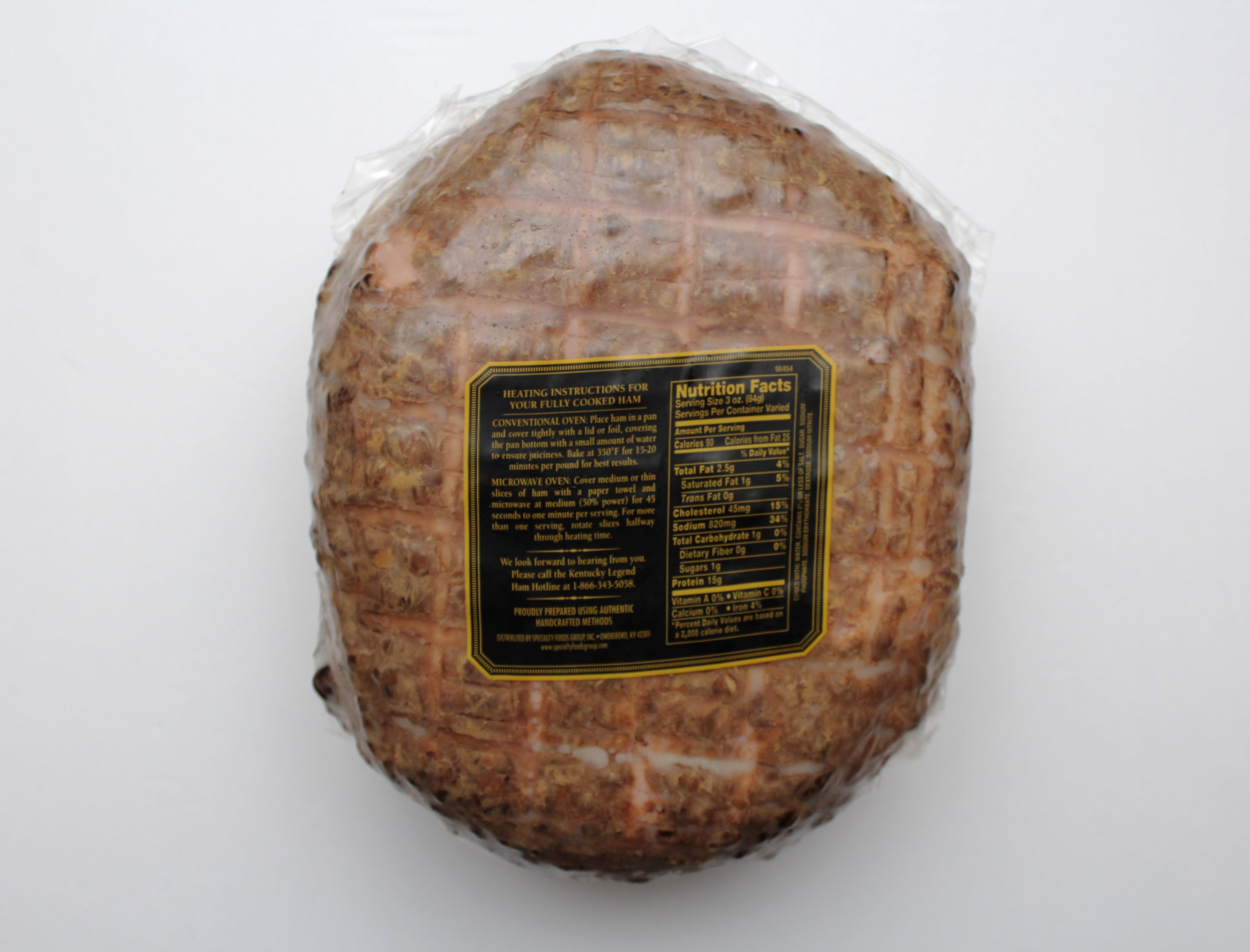 Kentucky Legend Smoked Whole Ham, 6.5- 8.5 lbs - Walmart.com