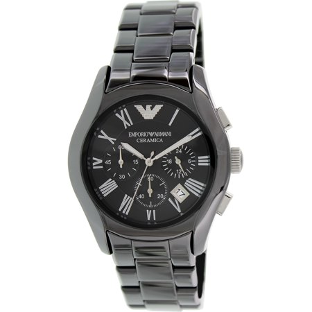 Emporio Chronograph Black Dial Black Ceramic Mens Watch AR1400