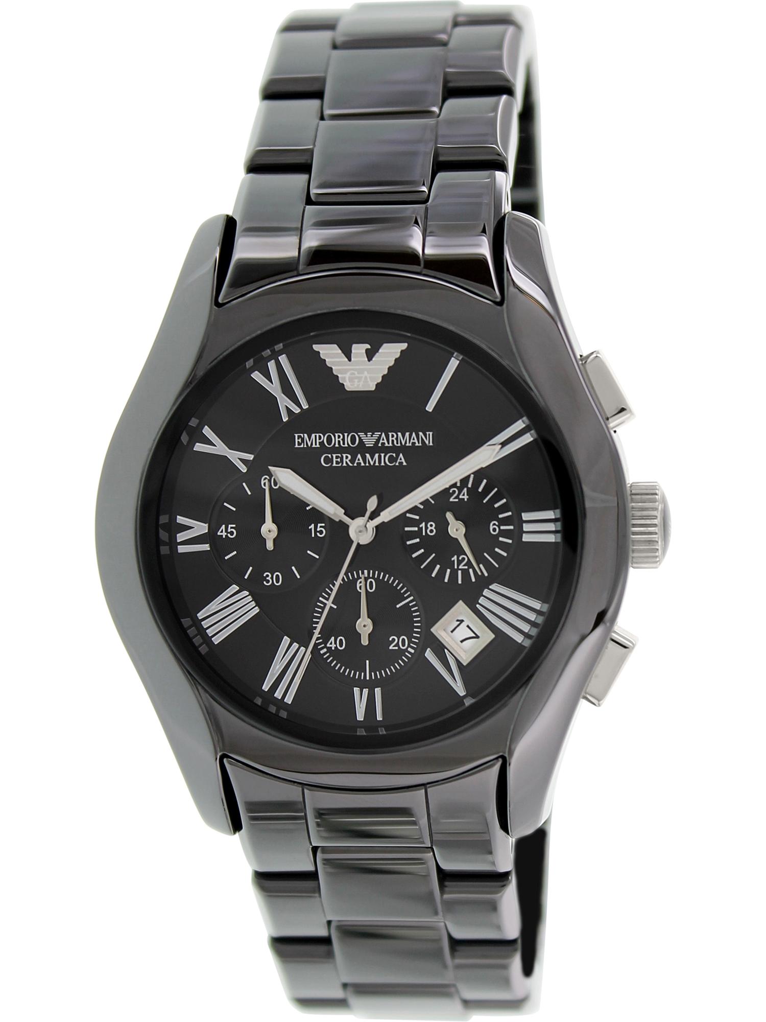 Emporio Armani Men's Ceramica Black Ceramic Analog Quartz Fashion Watch AR1400