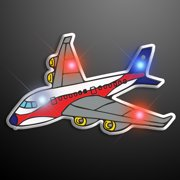FlashingBlinkyLights Airplane Flashing Blinking Light Up Body Lights Pins