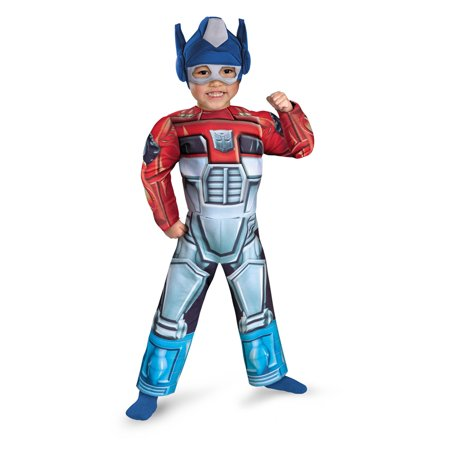 Optimus Prime Rescue Bot Toddler Muscle Halloween Costume](Optimus Prime Mask)