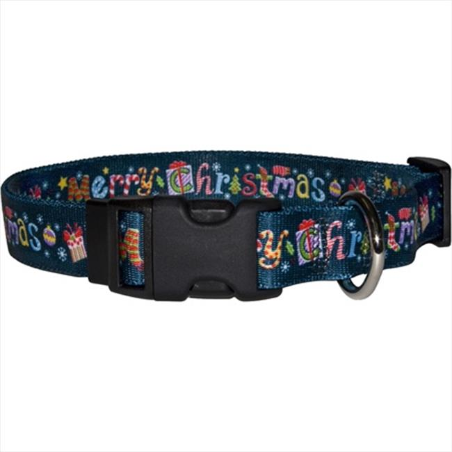 Yellow Dog Design MC100XS Merry Christmas Standard Collar - Extra Small