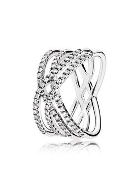 3c649d099 Product Image Ring in sterling silver w/71 bead-set clear CZ Ring sz 62  196401CZ