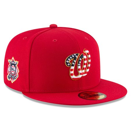 36e07e0a651 Washington Nationals New Era 2018 Stars   Stripes 4th of July On-Field  59FIFTY Fitted Hat - Red - Walmart.com