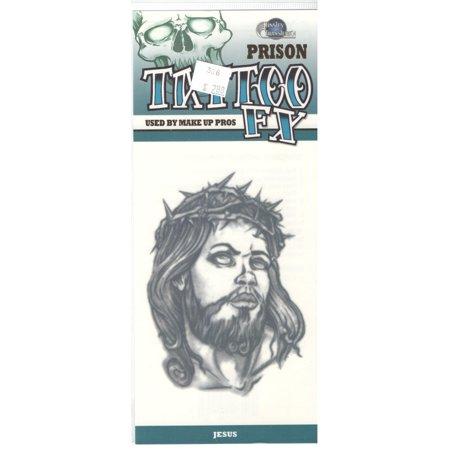 Prison Jesus Temporary Tattoo PR306