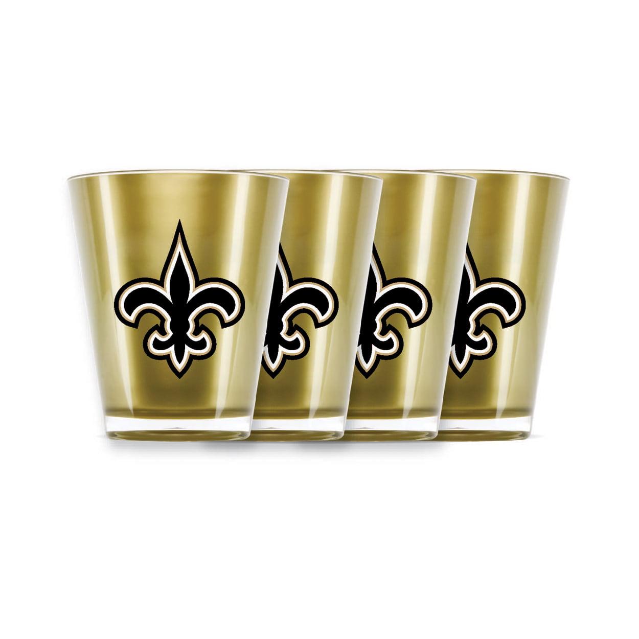 Duckhouse NFL New Orleans Saints 4 piece shot glas