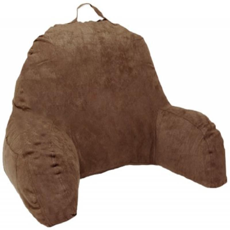 Living Health Products J-12-BROWN Microsuede Bedrest Pillow - Brown - Bed Rest Reading Pillow