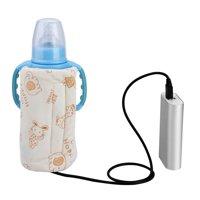 WALFRONT USB Portable Travel Mug Milk Warmer Heater Bottle Heater Feeding Bottle Infant Storage Bag , Milk Warmer, Milk Heater