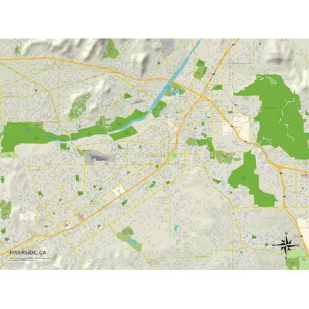 Political Map of Riverside, CA Print Wall Art - Halloween Parties Riverside Ca