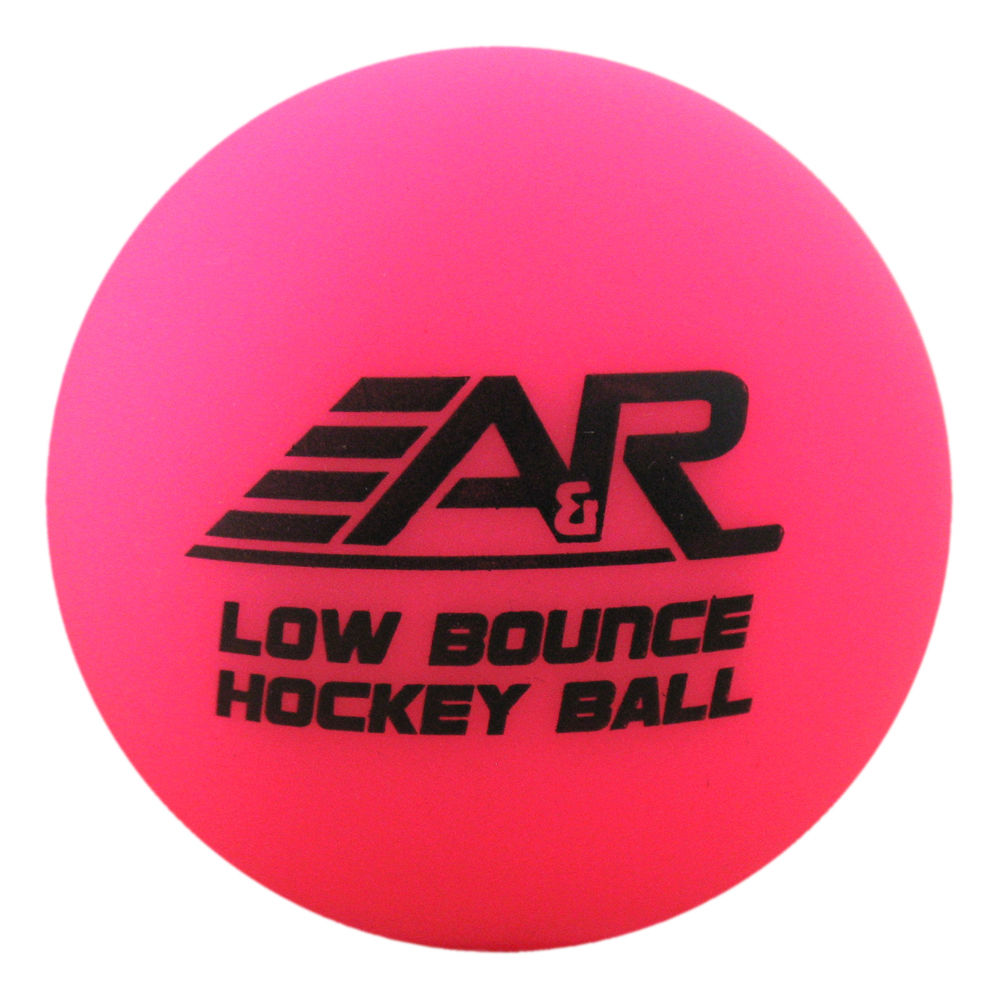 A&R Low Bounce Roller Street Floor Hockey Ball Pink For 32-60 Degree Weather