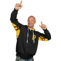 Pittsburgh Pirates Hands High Full Zip Hoodie - Black