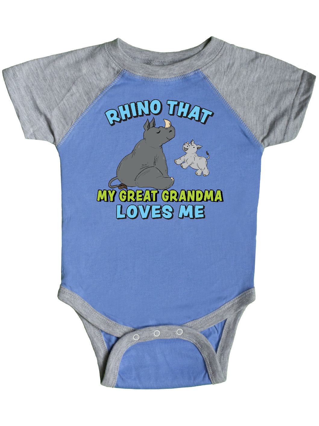 inktastic Rhino That My Abuela Loves Me with Cute Rhinos Long Sleeve Creeper