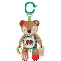 "World of Eric Carle, The Very Hungry Caterpillar On the Go Developmental Plush Brown Bear, 14"""