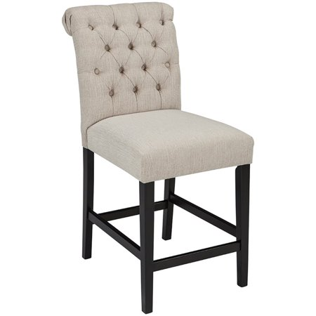 Tripton Upholstered Counter Height Barstool Linen - Signature Design by Ashley