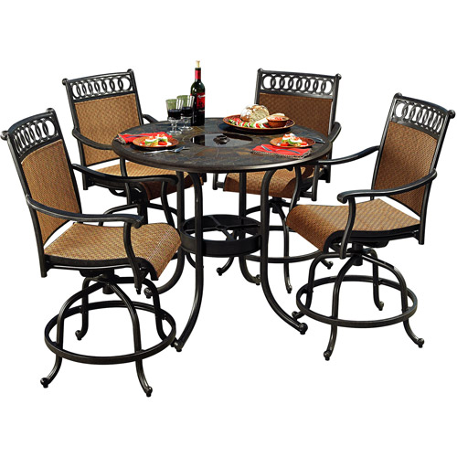 High Quality Sunjoy Clifton 5 Piece Outdoor High Dining Set