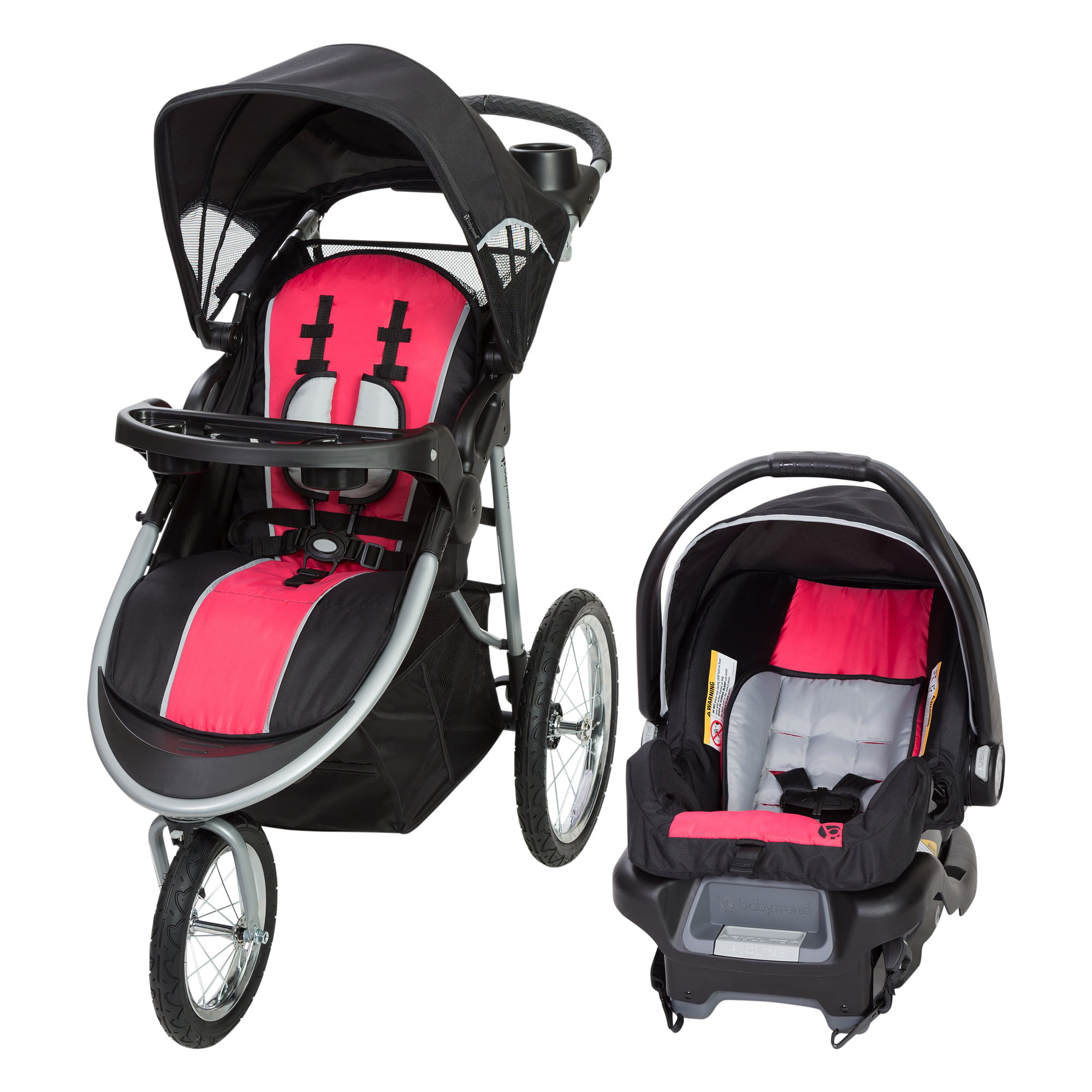 Baby Trend Pathway 35 Jogger Travel System-Optic Pink by Baby Trend