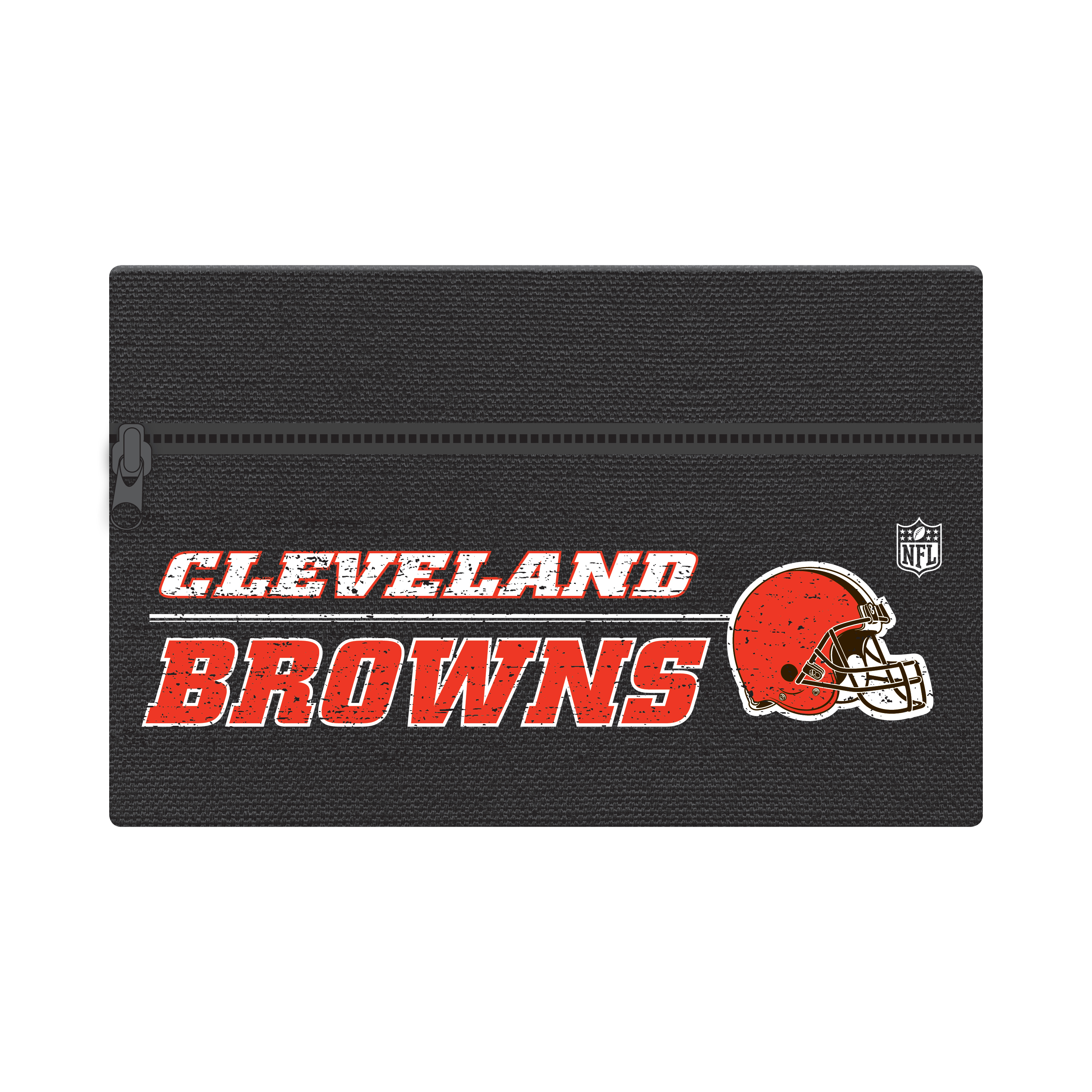 "NFL Cleveland Browns Zippered Cotton Canvas Pencil Pouch, 7.5"" by 4.625"""