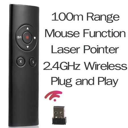Proster Presenter Laser Pointer Mouse Function Wireless Clicker Remote Control Powerpoint Ppt Usb Receiver Clicker Powerpoint Presenter Pen 2 4Ghz For Teaching Meeting Presentations Speech School