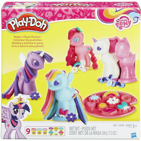 Play Doh My Little Pony Make N Style Ponies With 9 Cans Of Dough