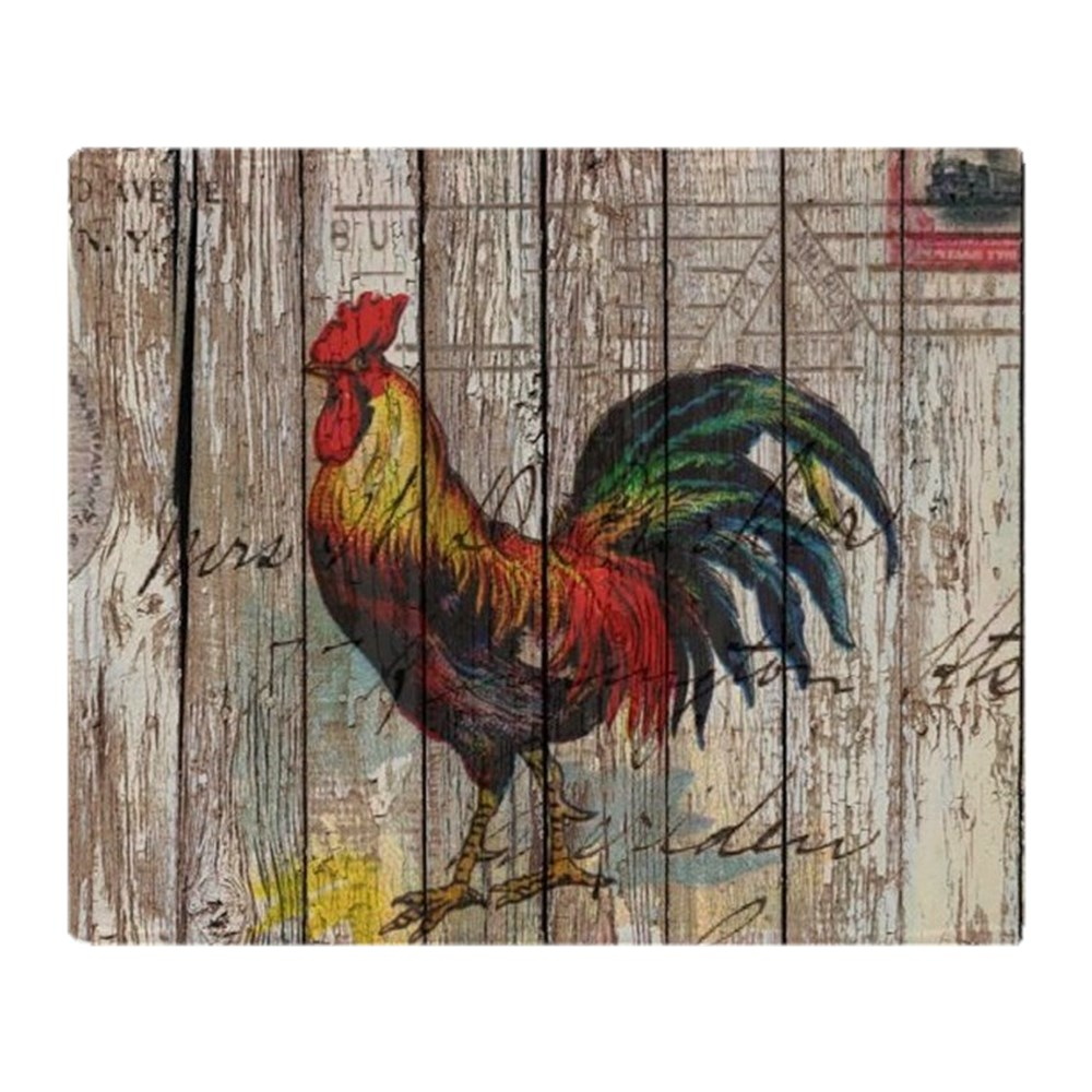 "CafePress Rustic Farm Country Rooster Soft Fleece Throw Blanket, 50""x60"" Stadium... by"