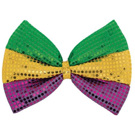 Huge Mardi Gras Oversized Bow Tie Bowtie 8 x 12 inches