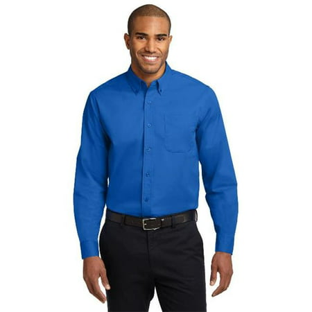 Port Authority® Long Sleeve Easy Care Shirt.  S608 Strong Blue Xs - image 1 of 1