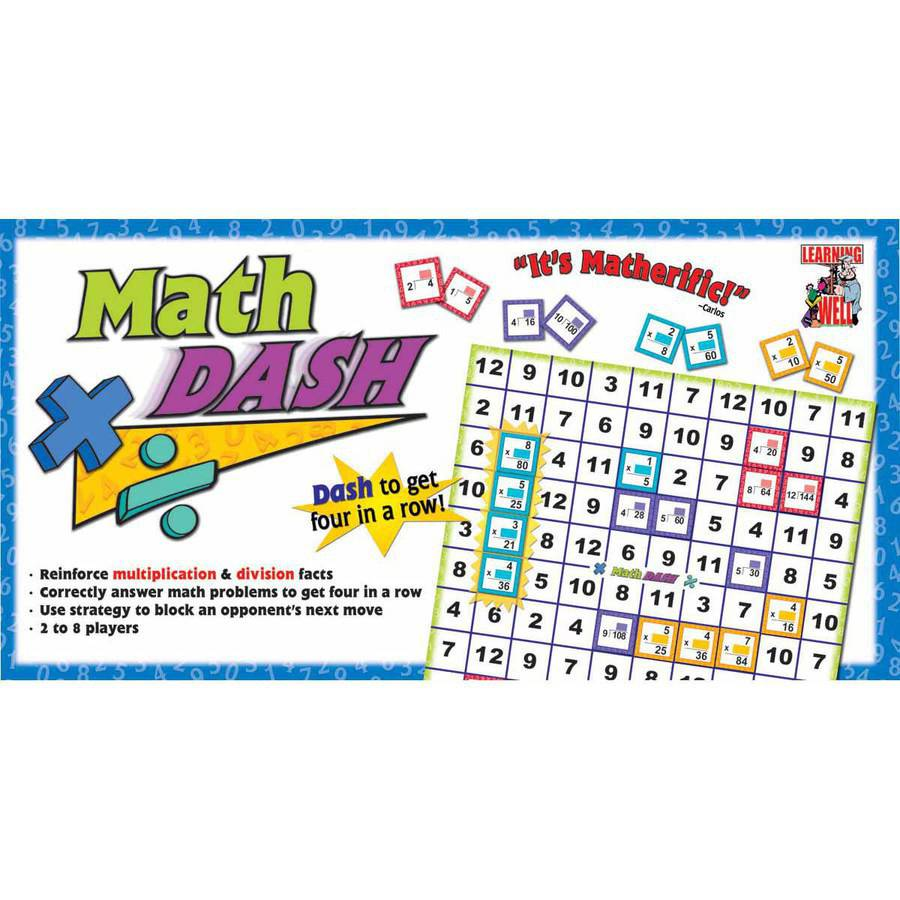 Edupress Multiplication and Division Math Dash Game, Assorted Colors