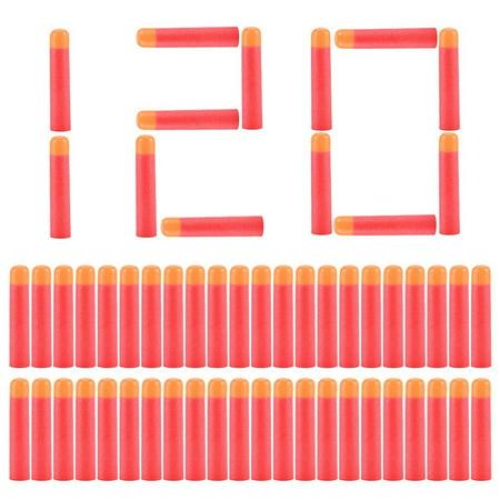 120pcs 9.5cm Red Soft Mega Refill Bullet Darts Foam Darts for N-strike Elite Series Blasters Kid Toy Gun - Kids Toy Guns