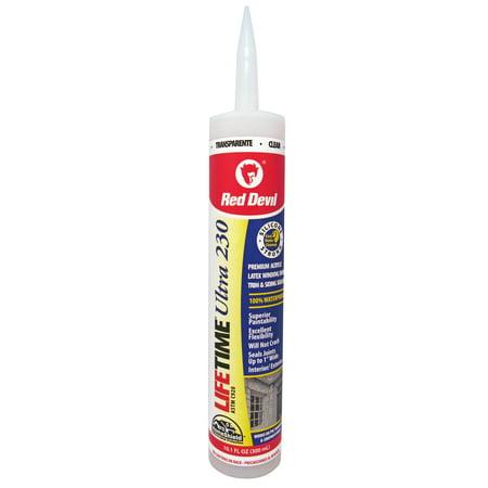 Red Devil 0777 Lifetime Ultra 230 Premium Elastomeric Acrylic Latex Sealant Clear 10.1 fl. oz. ()