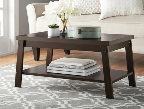 Product Image Mainstays Logan Coffee Table, Espresso Finishes