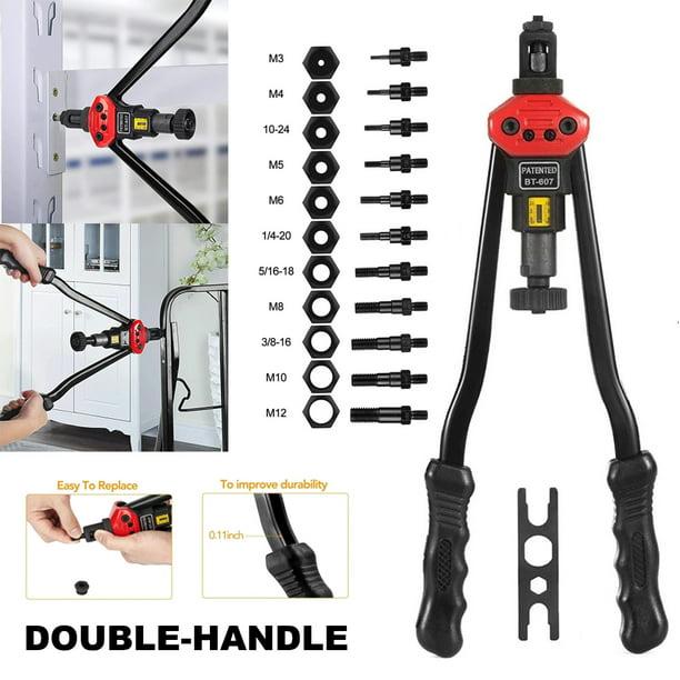 Valink Easy Automatic Rivet Tool Set Manual Riveting Pull Cap Heavy Duty Hand Riveter Walmart Com