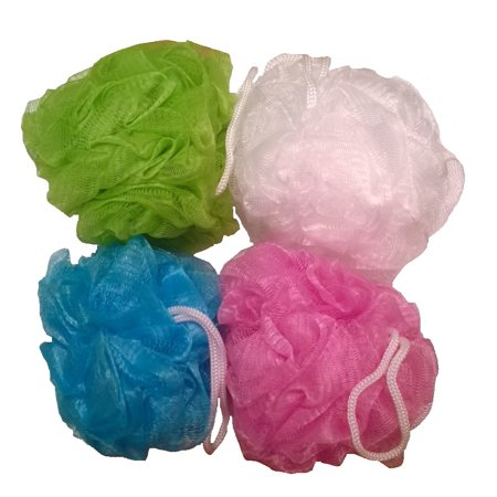 Daylee Naturals Mesh Bath Pouf Sponge 4 Pack ()