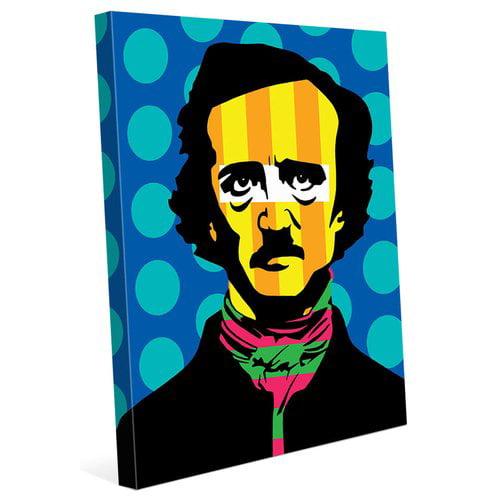 Ivy Bronx 'Colorful Edgar Allan Poe' Framed Graphic Art Print on Canvas
