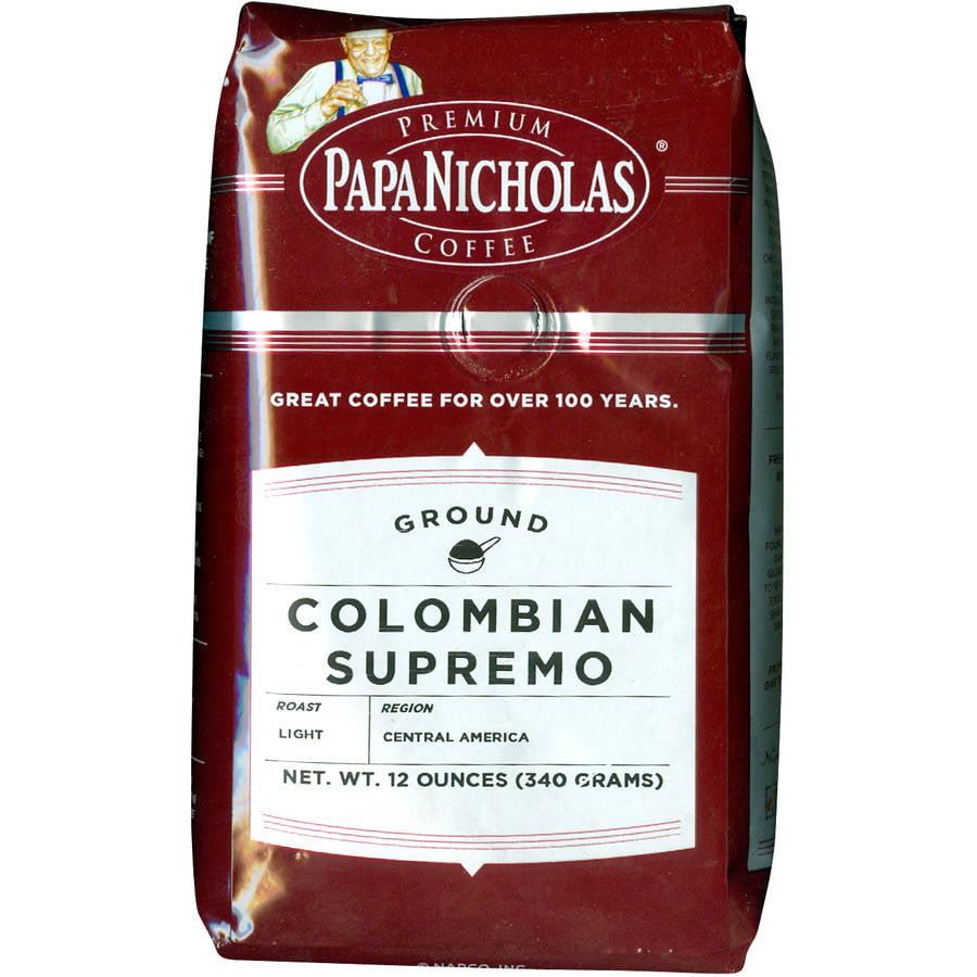 PapaNicholas Colombian Supremo Ground Coffee, 12 oz