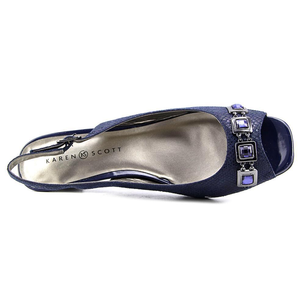 Karen Scott Analese   Open-Toe Synthetic  Slingback Heel