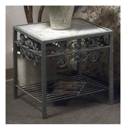 Rose Garden Side Table w Glass Insert
