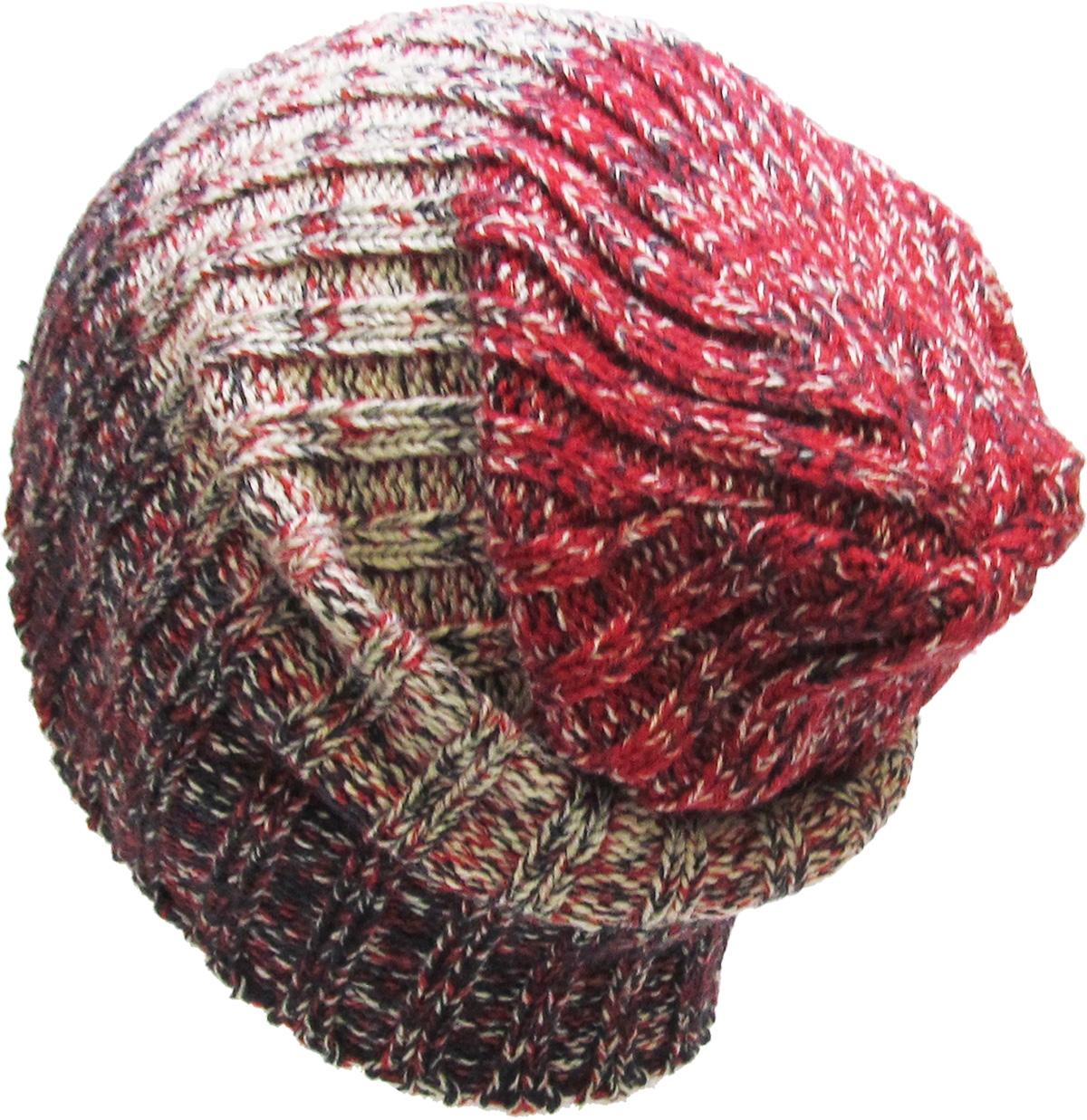 c1ee9ca1375 Gray Tri Tone Ribbed Knit Slouchy Beanie Baggy Style Skull Cap Winter  Unisex Ski Hat - Walmart.com