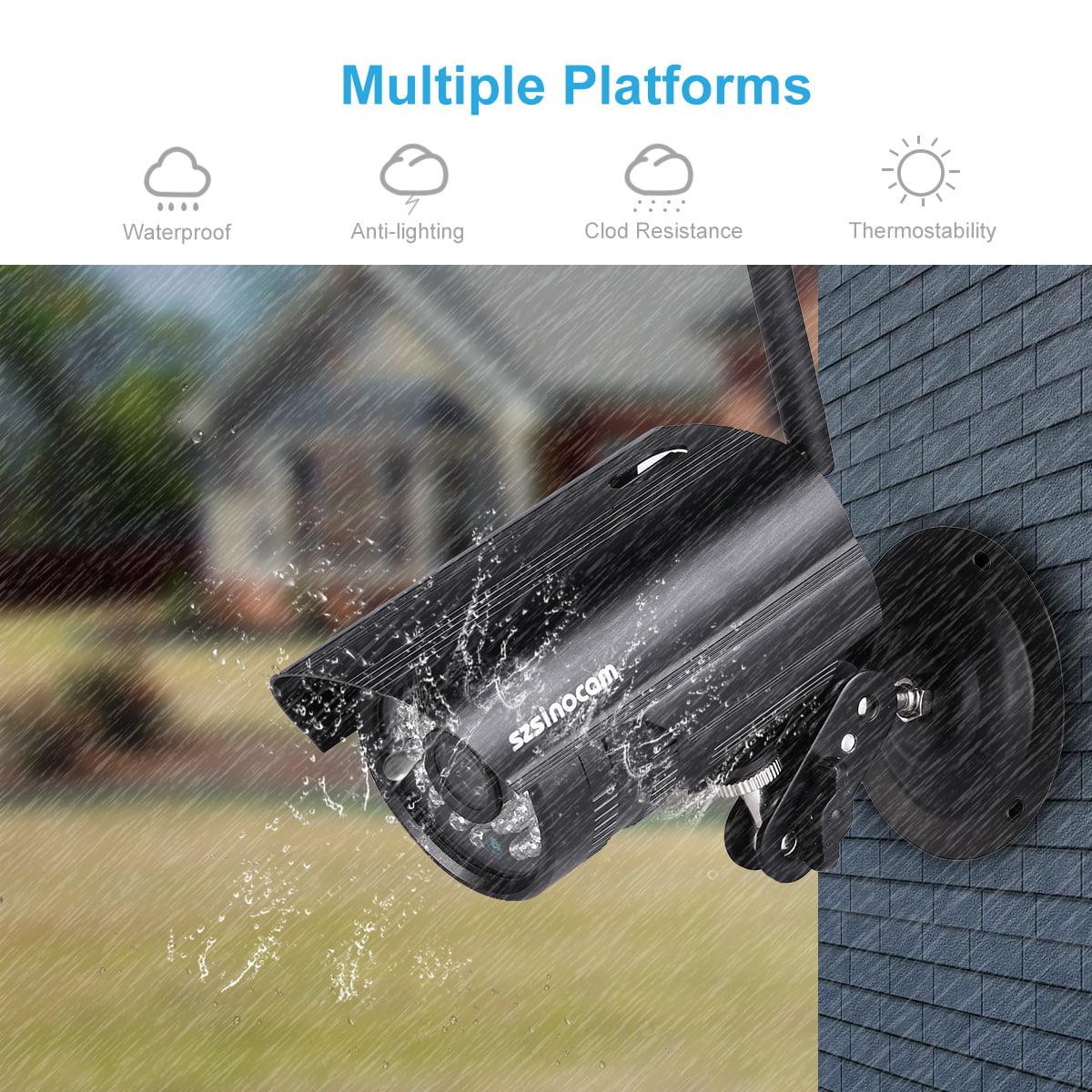 Szsinocam 720P Waterproof WLAN Wireleess 1 0Megapixel Security CCTV WiFi IP  Camera EU