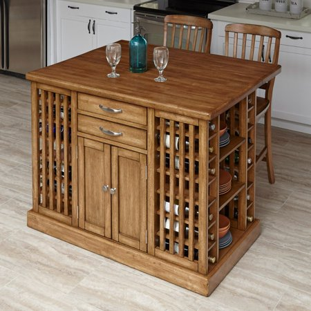 Home Styles The Vintner Kitchen Island With Optional Bar Stools